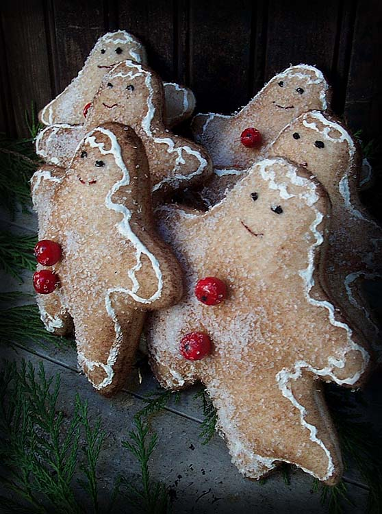 Old Fashioned Gingerbread Cookies Boy and Girl ~ e-pattern